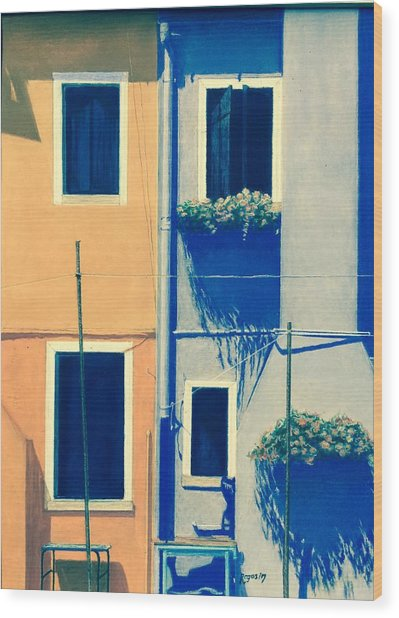 The Colors Of Burano Wood Print