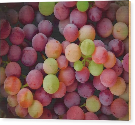 Colors Of Grapes Wood Print