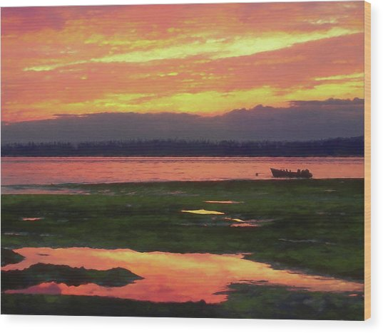 The Colors Of Ship Creek Wood Print