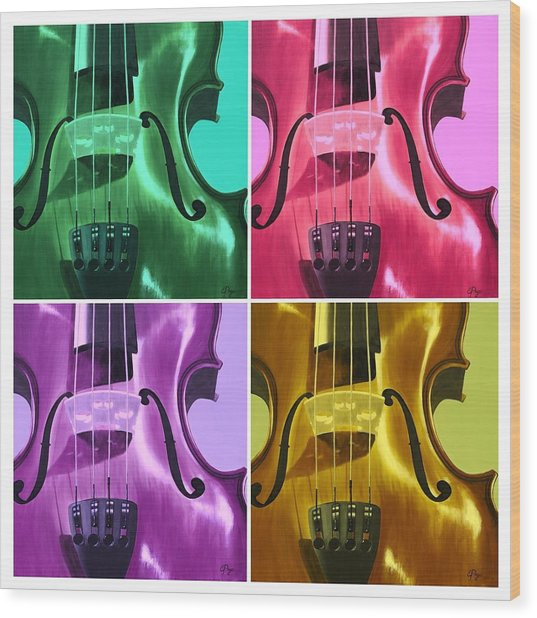 The Colors Of Sound Wood Print
