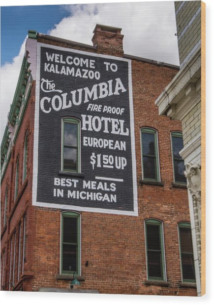 The Columbia Hotel Building Wood Print