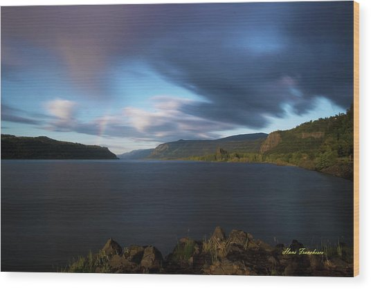 The Columbia River Gorge Signed Wood Print
