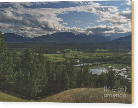 The Columbia Valley Wood Print