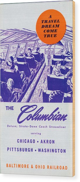 The Columbian Wood Print