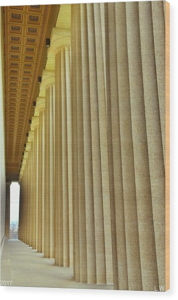 The Columns At The Parthenon In Nashville Tennessee Wood Print