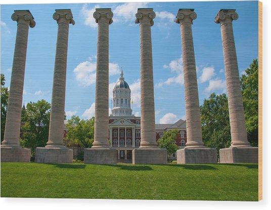 The Columns Wood Print