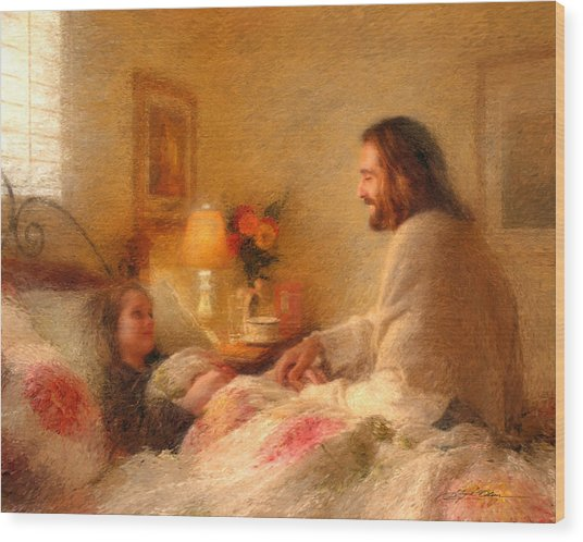 Wood Print featuring the painting The Comforter by Greg Olsen