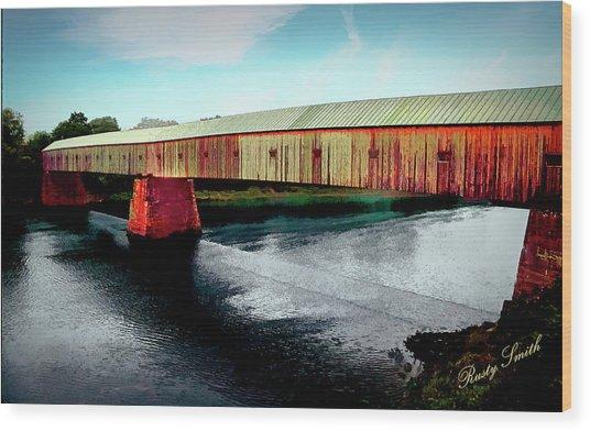 The Cornish-windsor Covered Bridge  Wood Print