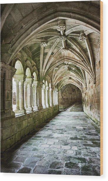 The Corridors Of The Monastery Wood Print