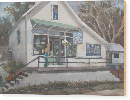 The Country Store Wood Print