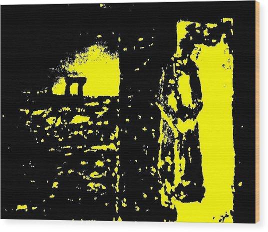 The Couple A'la Klimt Wood Print by Teo Spiller