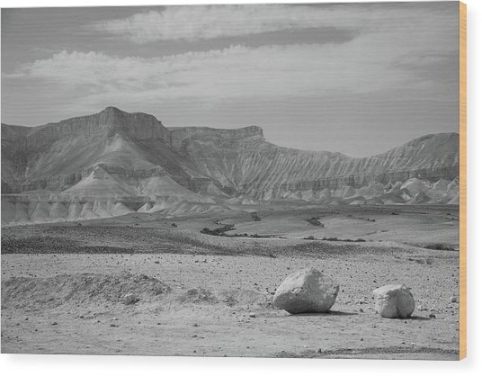 the couple of stones in the desert II Wood Print