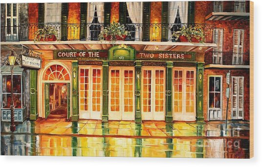 The Court Of Two Sisters On Royal Wood Print