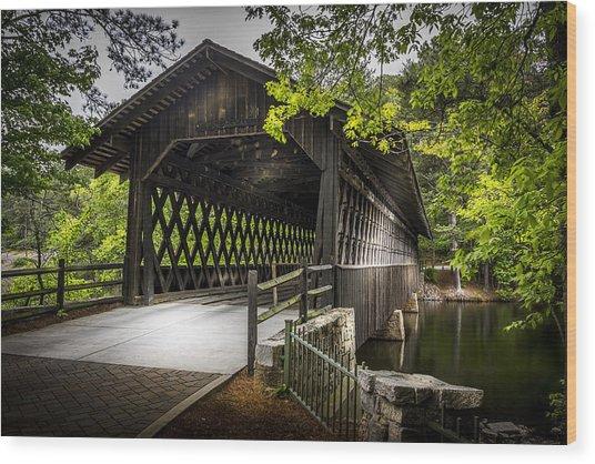 The Coverd Bridge Wood Print