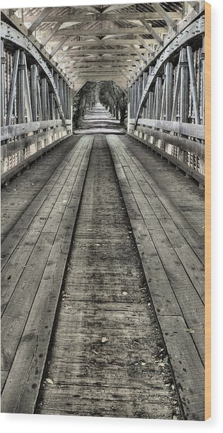 The Covered Bridge Wood Print by JC Findley