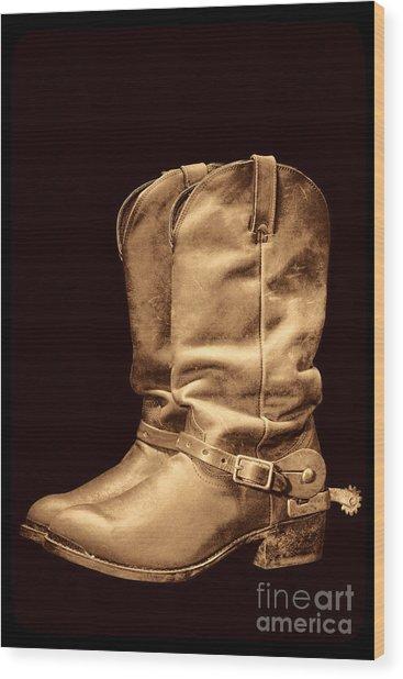 The Cowboy Boots Wood Print