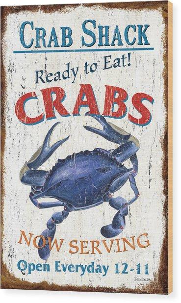 The Crab Shack Wood Print