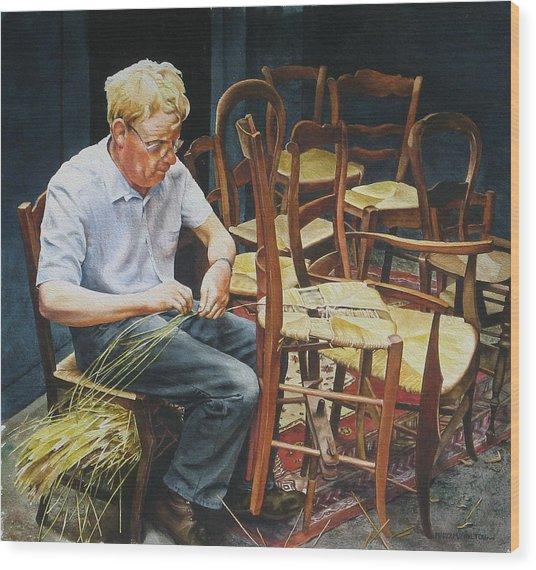 The Craftsman Wood Print by Marion  Hylton