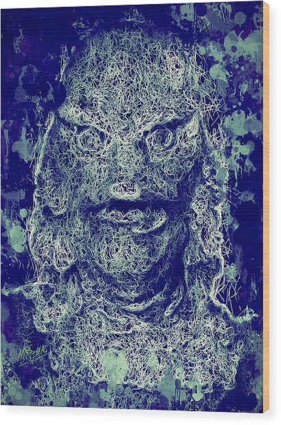 Creature From The Black Lagoon Wood Print