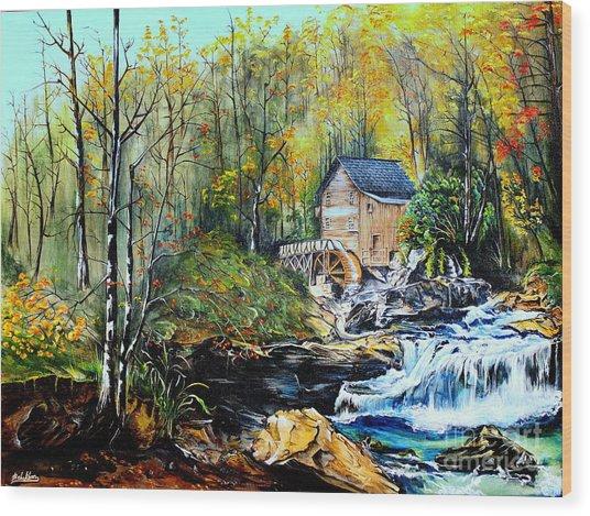 Glade Creek Wood Print