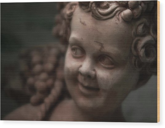 The Creepy Statue Wood Print