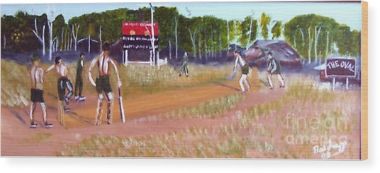 The Cricket Match Wood Print by Neil Trapp