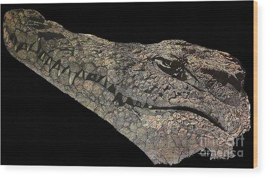 The Crocodile Wood Print