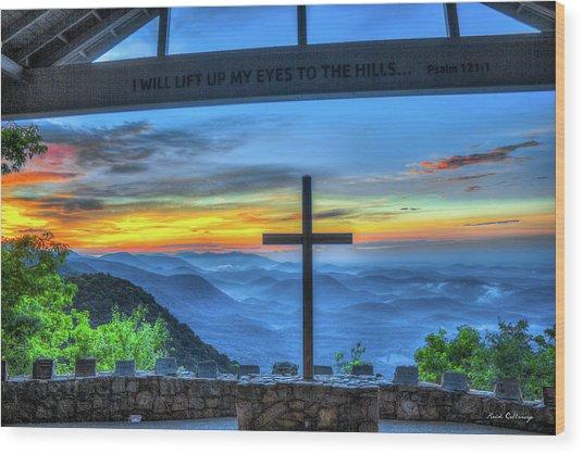 The Cross Sunrise At Pretty Place Chapel Wood Print