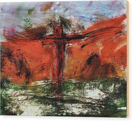 The Crucifixion #1 Wood Print