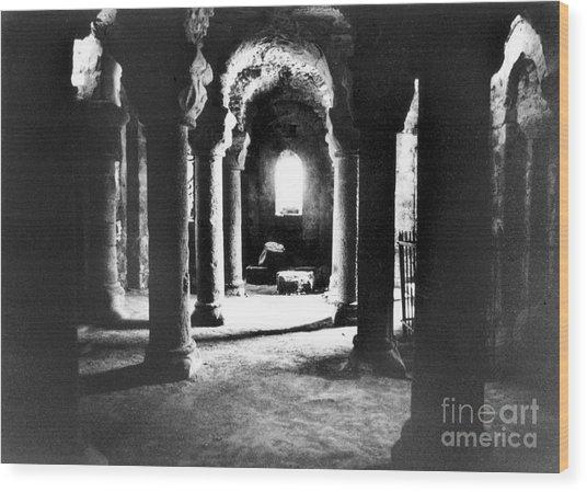 The Crypt Wood Print