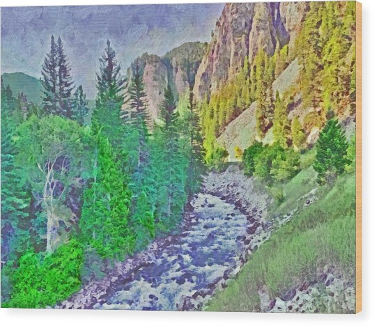 The Crystal River Around Redstone Colorado Wood Print