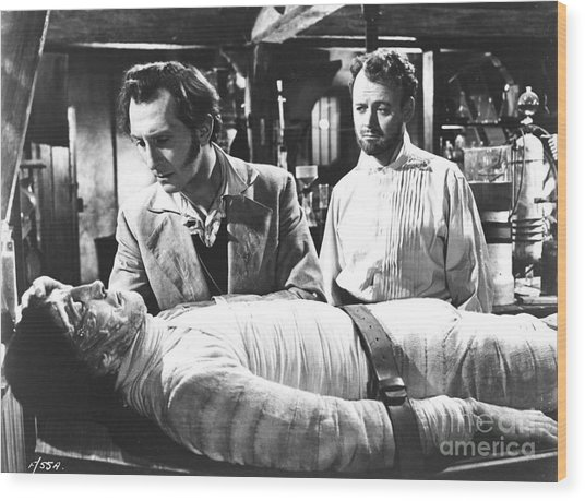 The Curse Of Frankenstein 1957 Baron Victor Frankenstein Wood Print