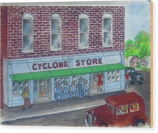 The Cyclone Store 1948 Wood Print