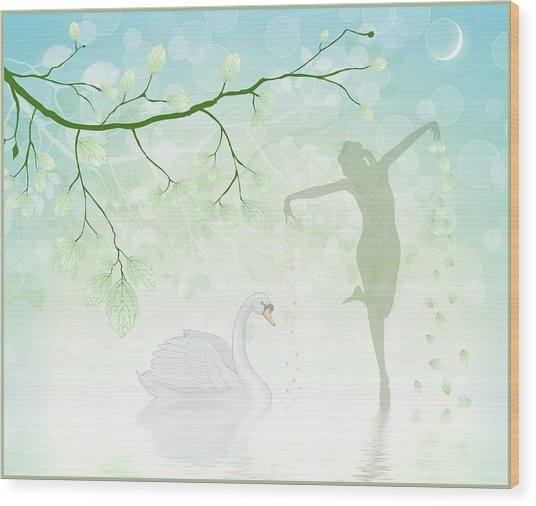 The Dance Of The Swan Wood Print