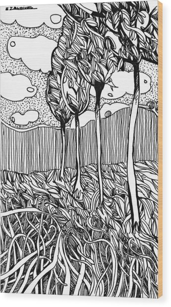 The Dance Of The Wind Wood Print