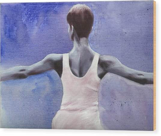 The Dancer Wood Print by Fiona Jack