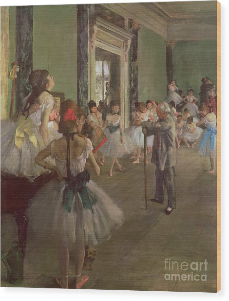The Dancing Class Wood Print
