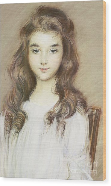The Daughter Of The Marquise Of Elbe Wood Print