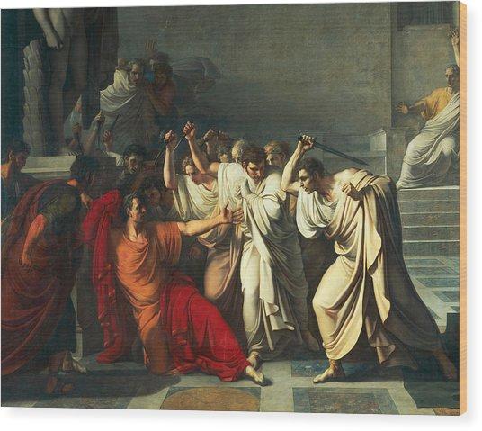The Death Of Julius Caesar Wood Print