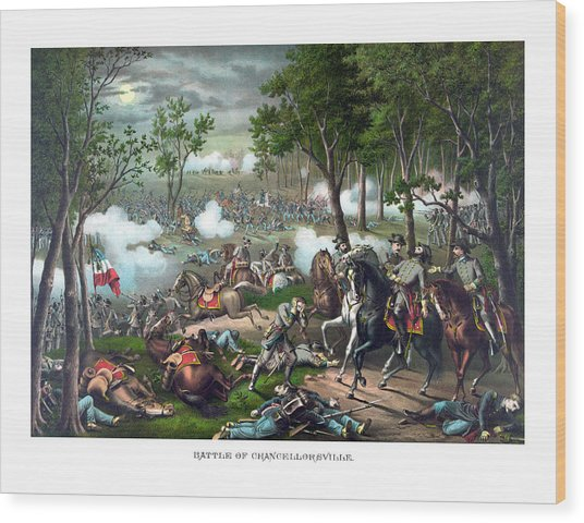 The Death Of Stonewall Jackson Wood Print
