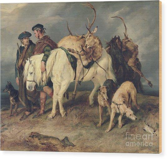 The Deerstalkers Return Wood Print