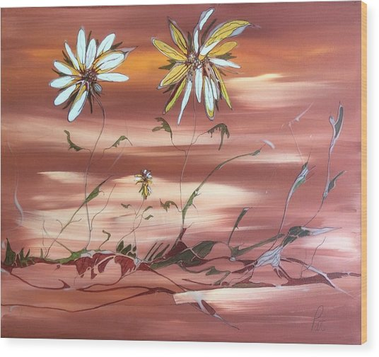 The Desert Garden Wood Print