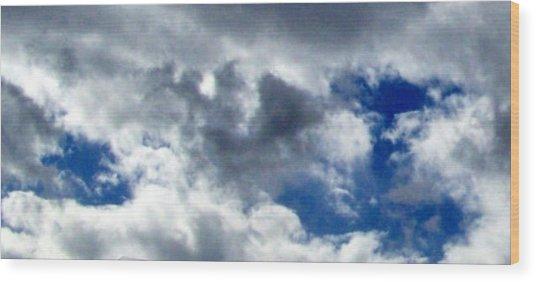 The Desert's Sky Wood Print by Cathy Kaiser