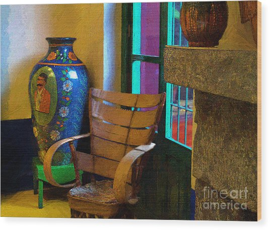 The Dining Room Corner In Frida Kahlo's House Wood Print