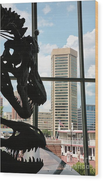 The Dinosaurs That Ate Baltimore Wood Print