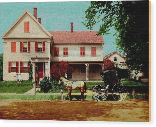 The Doctor Heads Out On A House Call Wood Print