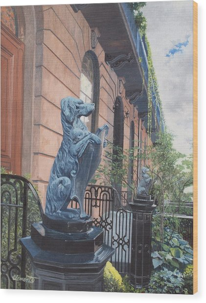 The Dogs On West Tenth Street, New York, Ny  Wood Print
