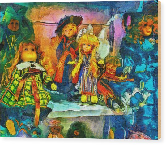 The Dolls Wood Print