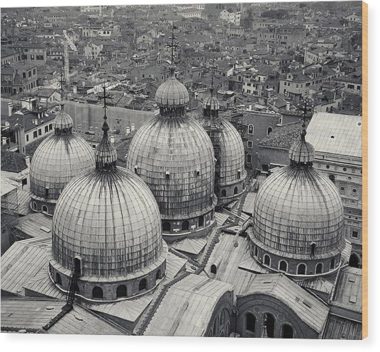 The Domes Of San Marco, Venice, Italy Wood Print
