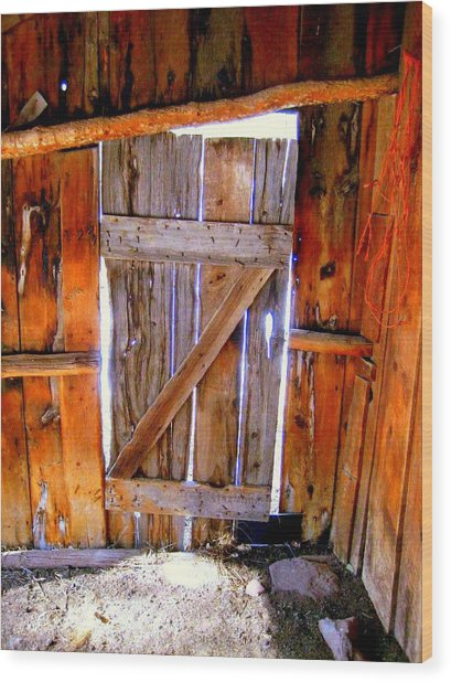 The Door Wood Print by Gigi Kobel